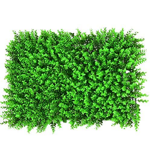 Yw-Grass ball 10 Stück künstliche Hecke Screening, Nachahmung Eukalyptus Green Privacy Screen Green Hecke Hintergrund Kunststoff Garten gefälschte Zaun Hecke,Ordinary