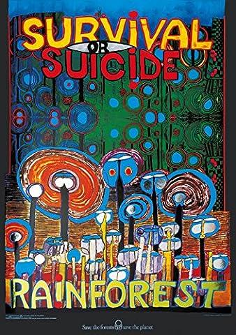 Friedensreich Hundertwasser - Posters: Friedensreich Hundertwasser Poster Reproduction - Rainforest