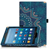Famavala Folio custodia cover con funzione Sleep/Wake per 20,3cm Fire HD 8Tablet [7th Generation 2017/6th Generation 2016] 20,3cm tablet A-Oun