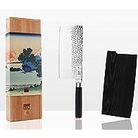 KOTAI - Hachoir Chinois - Couperet - Feuille de Boucher (Couteau de Boucher) - Lame de 19 cm Martelée en Acier Japonais…
