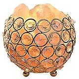 Gadgy  Lampe en Cristal de Sel de l'Himalaya Panier en Métal | 12x12x11 cm Variateur | Sculptée à...