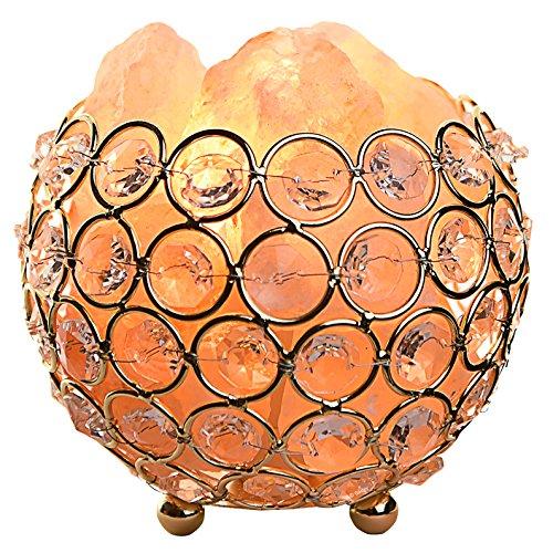 Gadgy ® lampada di sale himalaya con cestino in metallo | 12x12x11cm - dimmerabile | sale rosa a mano | lampadina e14 inclusa | naturale e terapeutica | per salotto e camera da letto