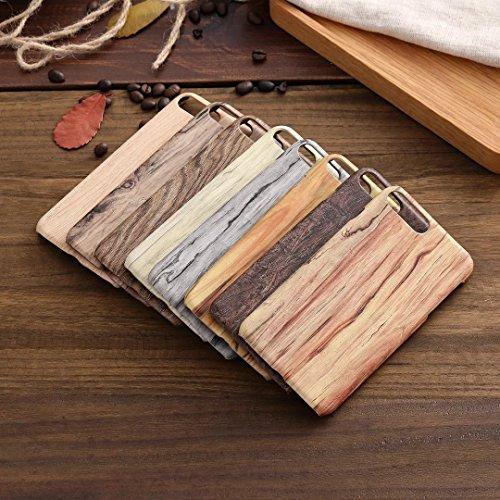 Wkae Case Cover iPhone Case Plus 7, Veine du bois Case Motif, étui en cuir PU Housse TPU souple avec dragonne Support Wallet Case pour Apple iPhone7 plus by DIEBELLEU ( Color : 2 , Size : Iphone 7 Plu 8