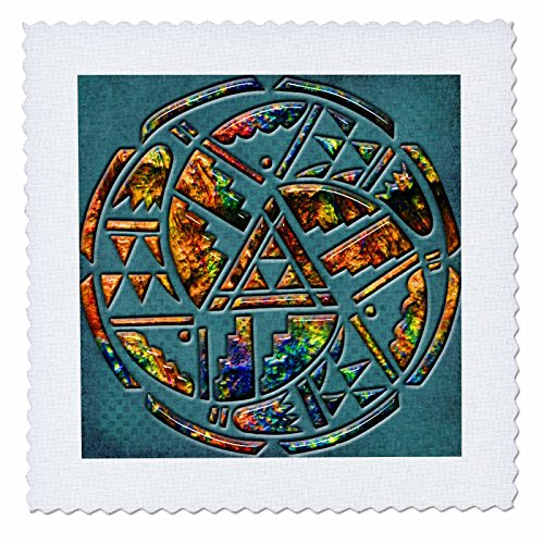 Spirituelle Erwachen Native American-Designer One Of A Kind Native American Art-Quilt Squares