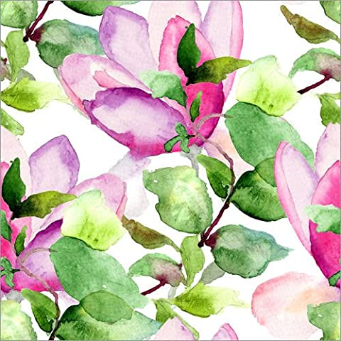 Impresión en metacrilato 100 x 100 cm: Magnolia pattern de Colourbox