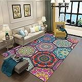 RUG Clothes UK- Teppich Klassischer Ethno-Stil Teppich Wohnzimmer Schlafzimmer Blended Abstrakte Kunst Bohemian Color Stitching Study Mat Teppich Teppich (Farbe : A, größe : 180x260cm)