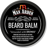 Man Arden Beard Balm - Soften and Moisturizes Beard with Beeswax and Shea Butter, 50gm