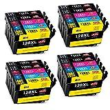 JIMIGO Ersatz für Epson T1281 T1282 T1283 T1284 T1285 Druckerpatronen Kompatibel mit Epson Stylus SX235W SX230 SX125 S22 SX130 SX420W SX425W SX430W BX305FW (8 Schwarz, 4 Cyan, 4 Magenta, 4 Gelb)