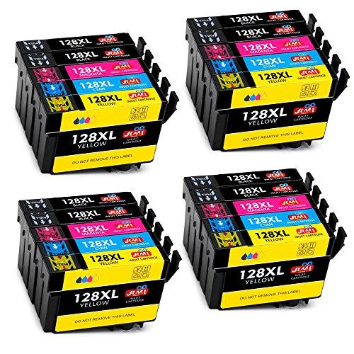JIMIGO Ersatz für Epson T1281 T1282 T1283 T1284 T1285 Druckerpatronen Kompatibel mit Epson Stylus...