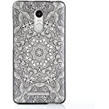 Xiaomi Redmi Note 3 Funda,Lizimandu 3D Patrón Protectiva Carcasa de Silicona Gel TPU estrecha Case Cover Para redmi note 3(Flor Blanca/White Flower)