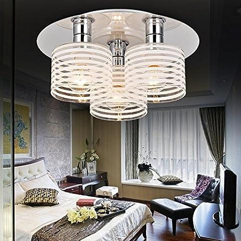 Lámpara de techo moderna simple y elegante de 3 piezas, Lámpara de techo de moda para dormitorio, Lámpara de techo de vidrio moderna para sala de