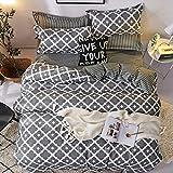 Stylish Plaid Sheets Bed Clips Dreiteiliges Set Vierteiliges Schlafzimmer Einzelbett Doppelbett Elegant FR-Single