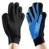 2Stk Pet Bürste Handschuh, Haustier Grooming Bürsten Deshedding Glove, Pferdebürste Putzhandschuhe für Pferde Hunde Katzen Fellpflege Reinigen und Entspannte