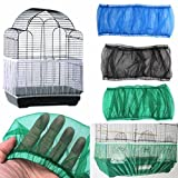 kangql Cubierta de malla de nailon para jaula de pájaros con ventilación a prueba de polvo