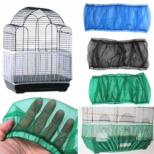 Kangql Käfigabdeckung, aus Nylon, Netzgewebe, belüftet, für Vogelkäfige, Abdeckung, Hülle, staubdicht, zum Auffangen von Samenkörnern, Haustierprodukt.