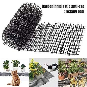 MongKok Garden Cat Scat Tapis Anti-Chat pour Chat, Beige, 1.8cmx12cmx2m