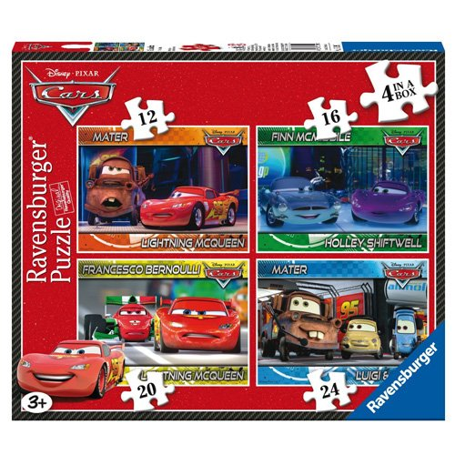 Ravensburger 7259 Disney Cars 4 in Box (12, 16, 20, 24 pieces) Jigsaw Puzzles