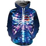 Jerinumkoy Skull 3D Hoodie Sweatshirts Men Women Skeleton Autumn Tracksuit Hooded Tops