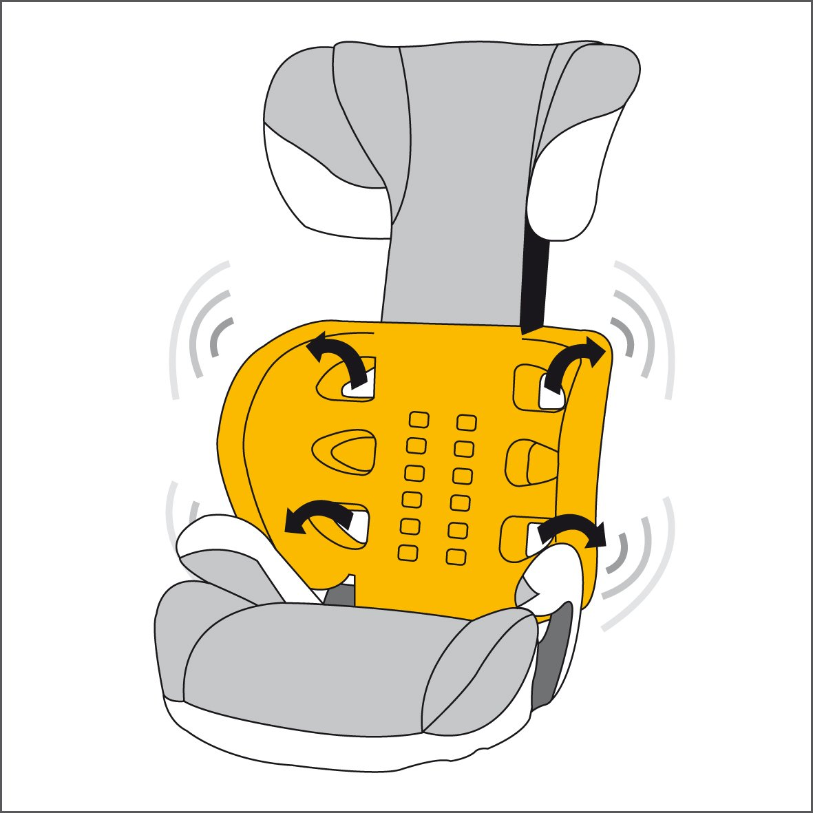 cybex autositz solution gruppe 2 3 15 36kg gray rabbit. Black Bedroom Furniture Sets. Home Design Ideas