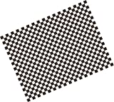 Checkered black greaseproof paper - 25 x 33