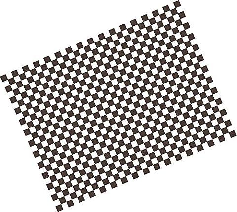 Papier damier noir - Greaseproof - alimentaire - Anti Graisse 25 x 33 - Fritures