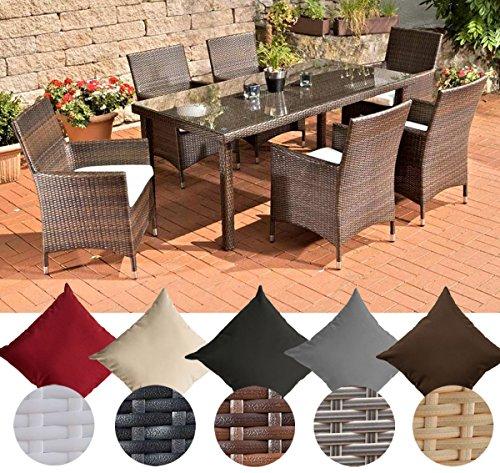 Clp Poly Rattan Gartenmöbel Sitzgruppe Florenz 6 X Polyrattan Stuhl