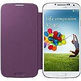 Samsung Flip - Funda para móvil Galaxy S4 (Con tapa, protección del terminal, sustituye a la tapa trasera), morado