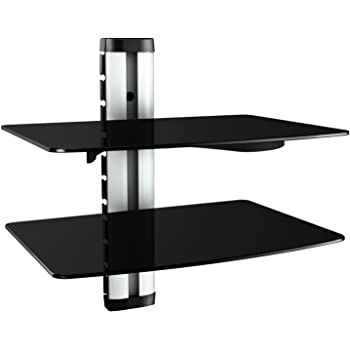 ricoo wand regal tv board hifi rack glasregal elektronik. Black Bedroom Furniture Sets. Home Design Ideas