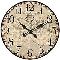 """Orologio da parete """"Map of the world"""" stile Vintage, 45 cm - in legno"""