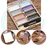 Neutral Matte / Shimmer 8 Sombreador de Ojos de Colores Paleta, KRABICE Sombra de Ojos Sombra de Ojos Kit de Maquillaje Set Make Up Professional Box #2
