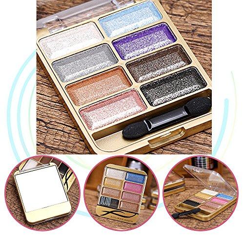 Neutral Matte / Schimmer 8 Farbe Lidschatten Palette, KRABICE Lidschatten Augen Schatten Palette Make-up Kit Set Make Up Professional Box#2 (Brown Zeigen)