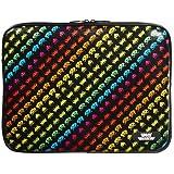 Space Invaders 13-Ich Mac Book pro Vinyl Sleeve with Zip, Multicolor