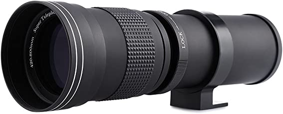 Zorbes 420-800MM Super Telephoto Manual Lens with Adapter for Canon Eos EF Camera