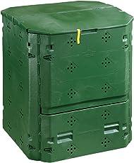 Dehner Thermo Komposter 420 Liter, ca. 84 x 74 x 74 cm, Kunststoff, grün