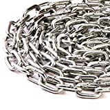 2.5mm x 24mm x 5mm THICK STEEL WELDED CHAIN LINKS HANGING FENCE LONG MAXIMUM WORK LOAD 30kgs - FREE UK DELIVERY (1)