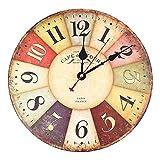 Soledi®El Reloj de Pared de Cuarzo Reloj Retro (A)