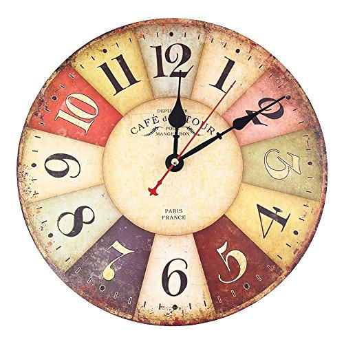 Soledi Reloj de Pared de Cuarzo Estilo Toscano...