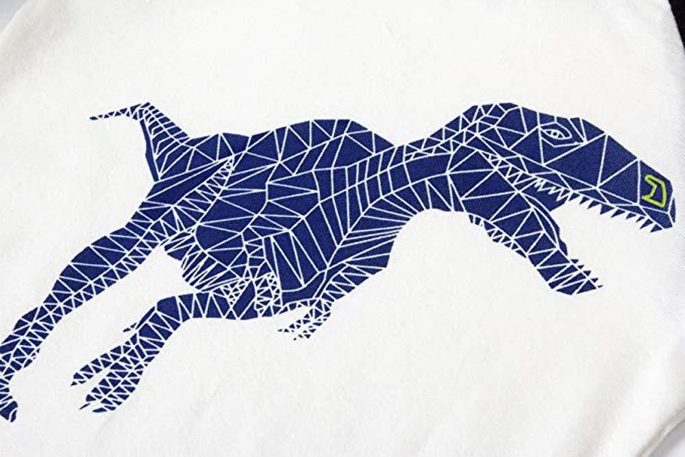 Trisee Trajes para niños pequeños Ropa de Dormir Dinosaurio de Dibujos Animados Imprimir Tops y Pantalones 2 Piezas Set… 3