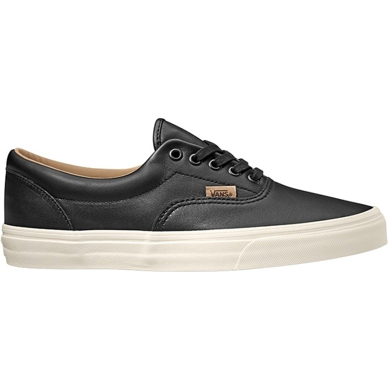 Vans UA Era Black Leather Trainers: Amazon.co.uk: Shoes & Bags