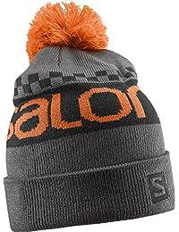 Salomon gorro free Varios colores Galet Grey/Black/Clementine X Talla:uni