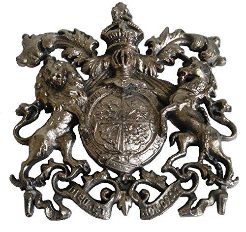 Messing Segen-Groß Antik Stil Messing Heavy Cast Royal Crest Safe Teller-Best Collection (5127)