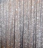 trlyc Fotografie-Hintergrund, 180cm x 215 cm, Schimmernder Paillettenstoff, ideal für Hochzeit, verschiedene Farben sind erhältlich, Sonstige, Silber, 72