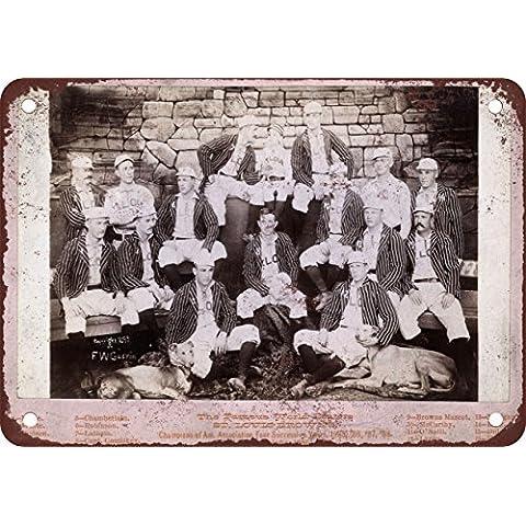 1888St Louis Browns Baseball Stile Vintage Riproduzione in metallo Tin Sign 17,8x 25,4cm