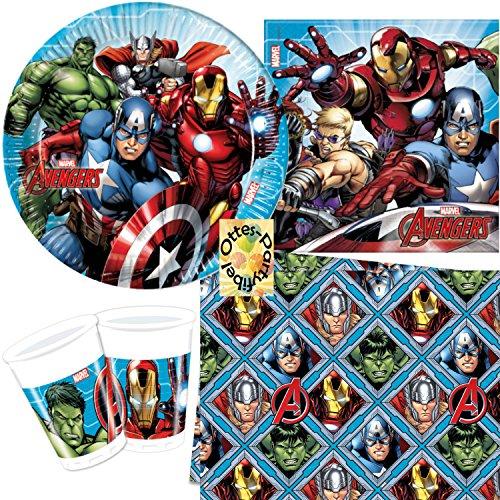 HHO Avengers Mighty 37tlg. für 8 Kinder Teller Becher Servietten Tischdecke