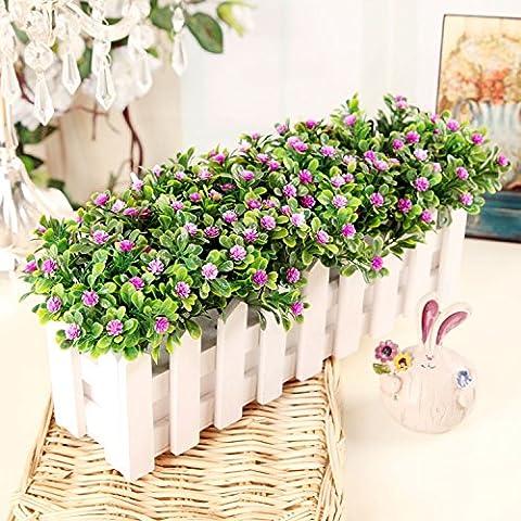 Fiori artificiali ShiQi vero tocco di fiori finti in plastica Vaso di fiori di ornamenti Soggiorno Festival Home giardino decorazione di nozze 30 White Picket Fence rose fiori