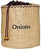 Kitchen Craft Natural Elements Hessian - Sacco per conservare le cipolle con fodera oscurante