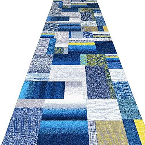 SESO UK- Abstrakt Teppich Läufer für Flur Treppen, Gewerbe Haushalt Hotel Halle Langen Teppich Runner (Size : 120×150cm)