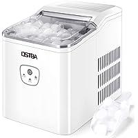 OSTBA Machine à glaçons,26 lbs/12 kg en 24 Hours,Automatique électrique Compact Portable Machine à glace,9 Glaçons Par 8…