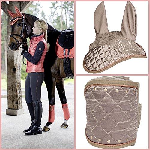 Streifen und Mütze anti-mouche Siena Camel Pony