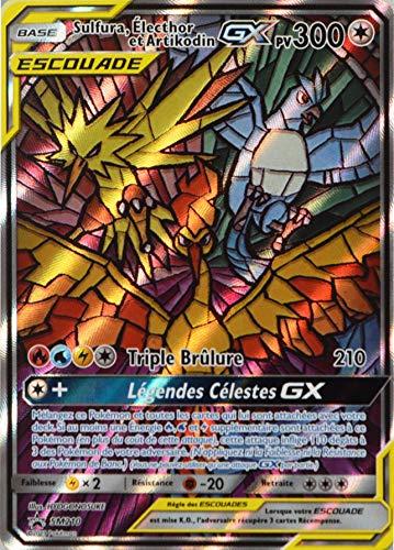 CLICANDSELL Carte Pokémon SM210 Sulfura, Electhor et Artikodin GX 300 PV - Full Art Neuf FR